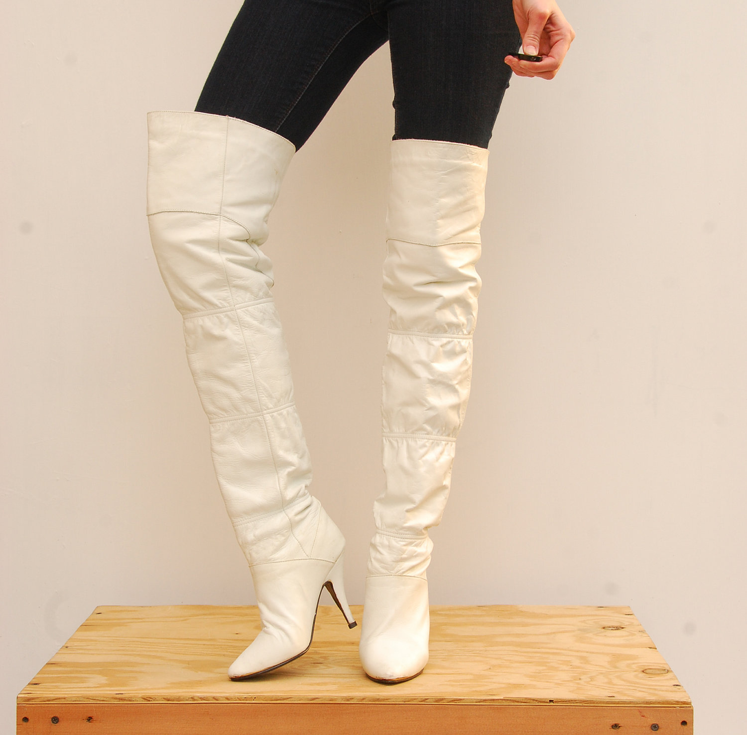 White Over The Knee Boots 1GoPClny