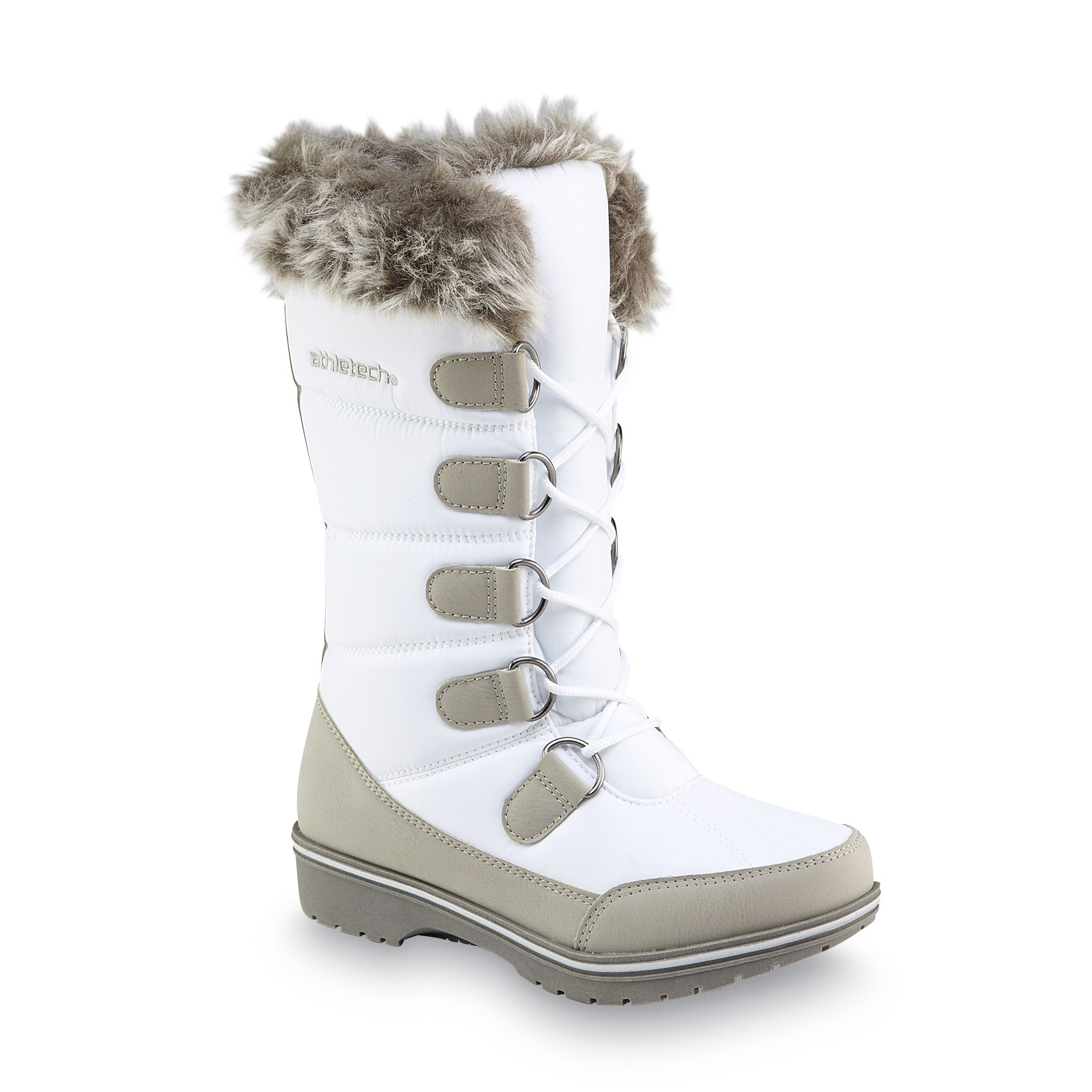 White Womens Snow Boots - Boot Yc