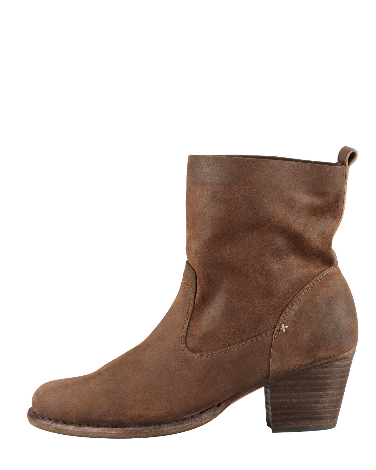 Womens Brown Leather Ankle Boots EfOusW9S