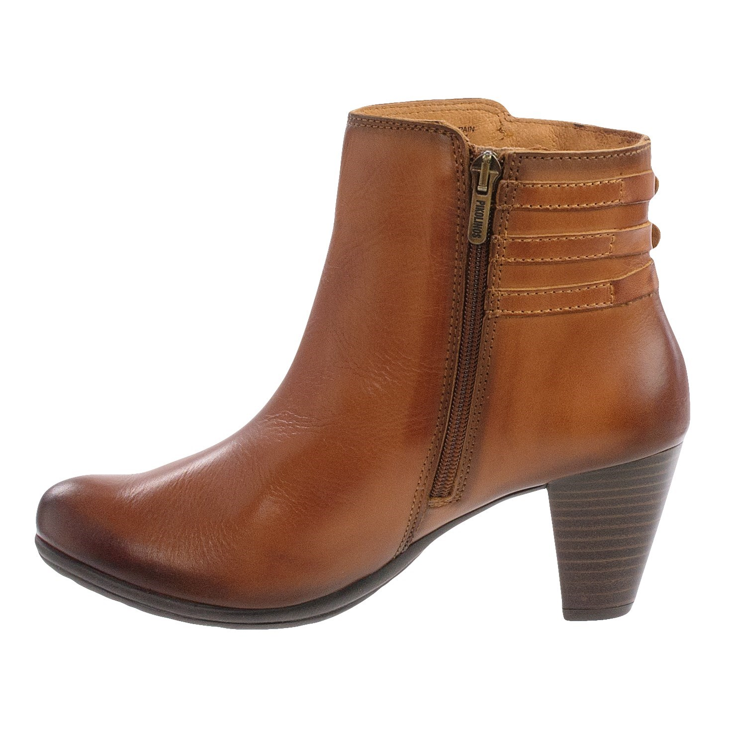 Womens Brown Leather Ankle Boots DdHojQdX