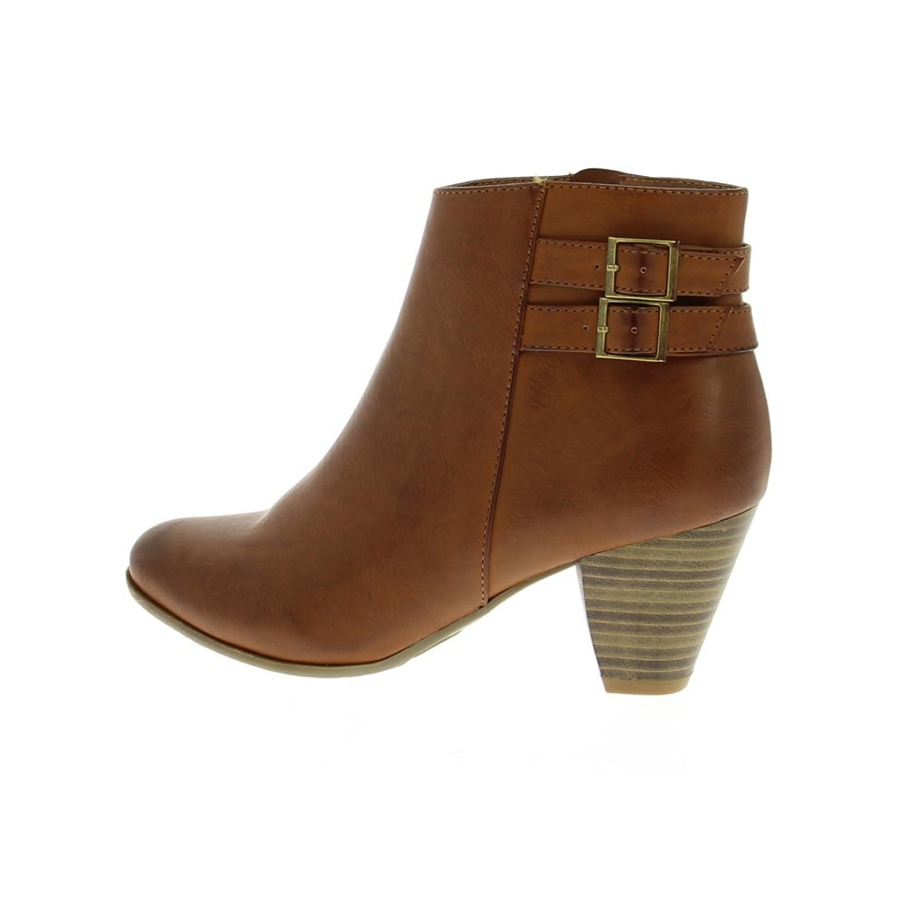 Womens Tan Ankle Boots - Boot Yc