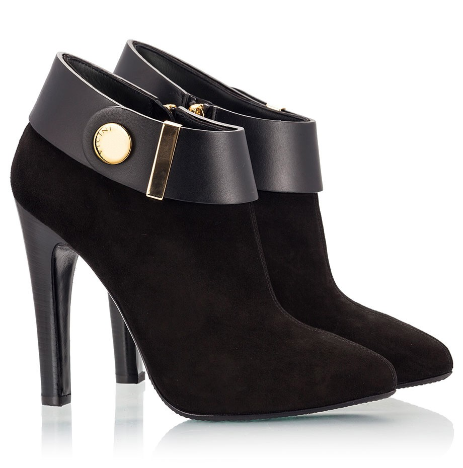 high heel ankle boots black