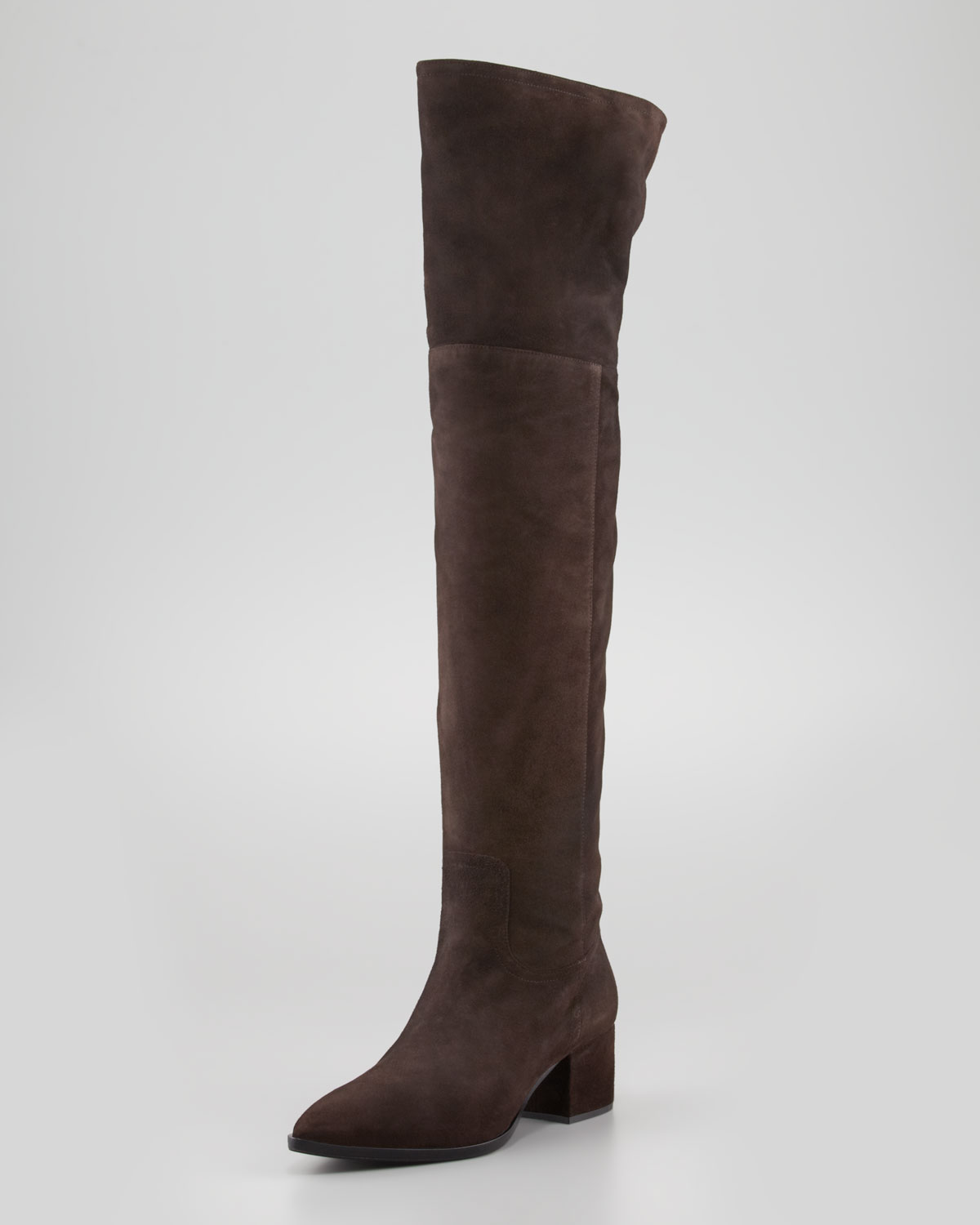 Brown Suede Over The Knee Flat Boots Boot Yc