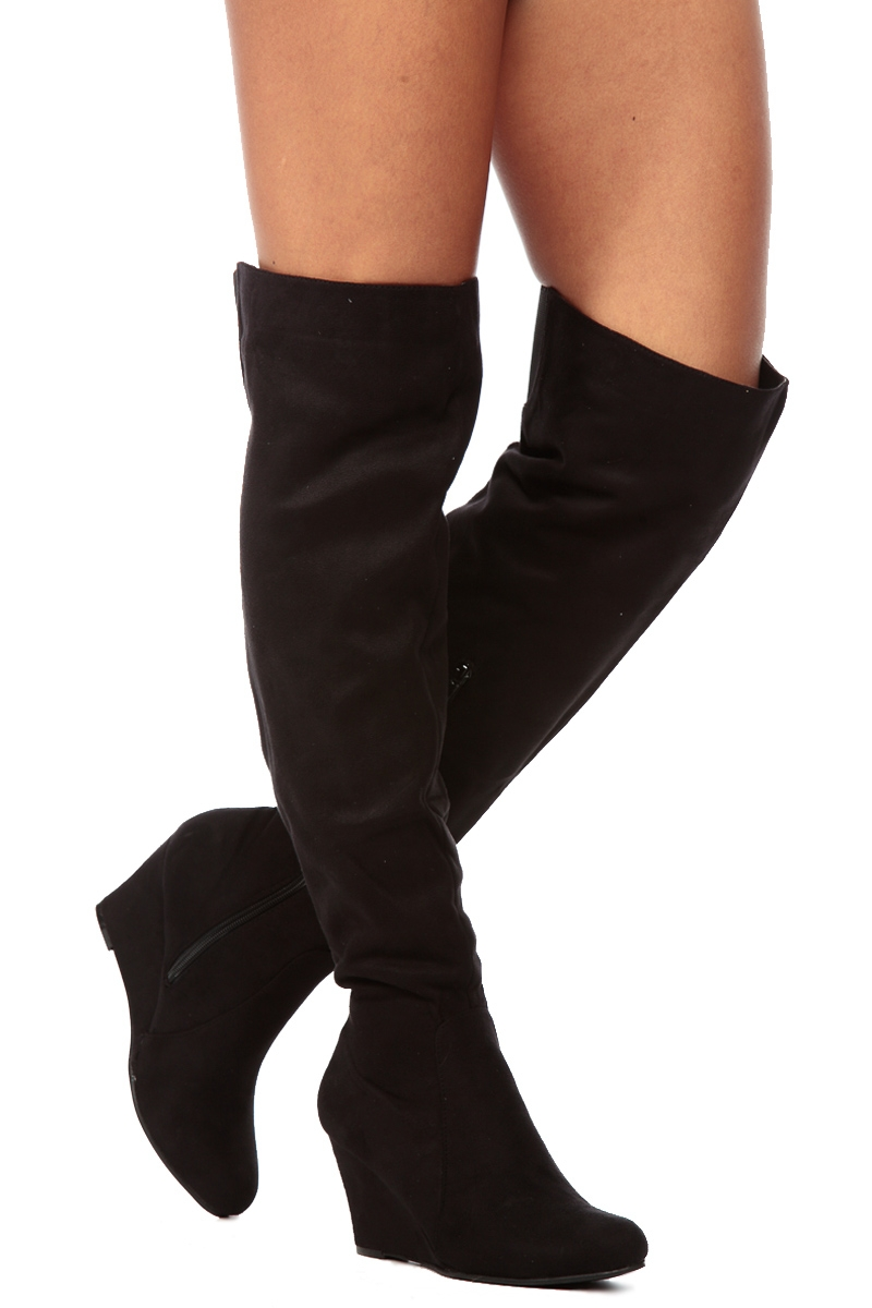 the knee wedge boots cheap boot yc