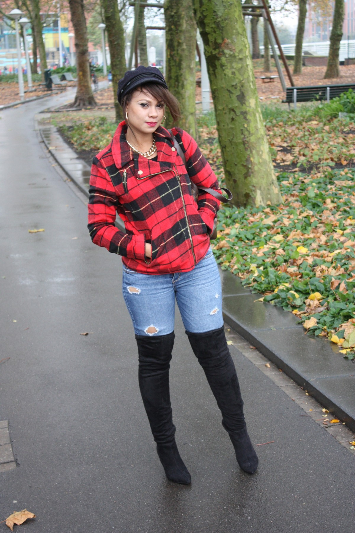 Thigh High Boots And Jeans Boot Yc
