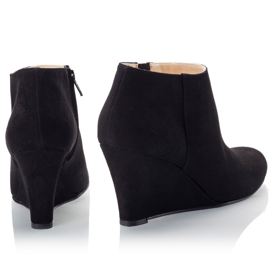 wedge ankle boots black boot yc