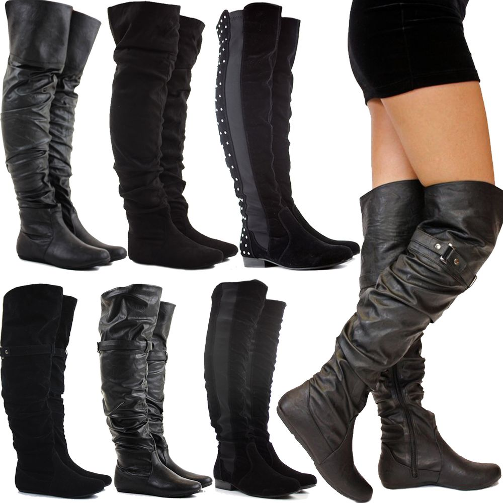 55bf7b3e42f7 Womens Thigh High Leather Boots - Boot Yc