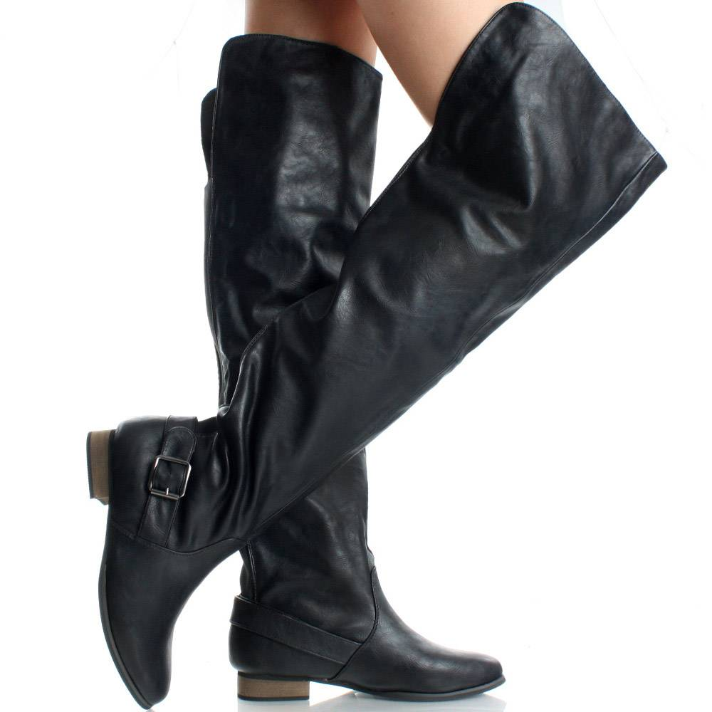 e7f6372cdc8c Thigh High Motorcycle Boots - Boot Yc