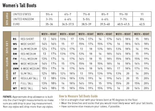 Ariat Boots Sizing