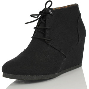 Black Ankle Boots Wedges mHR2TrYX