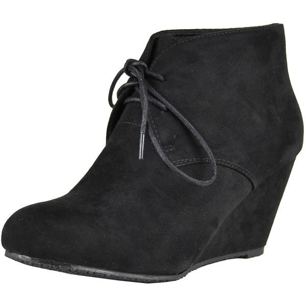 Black Ankle Boots Wedges ROhZH6FZ