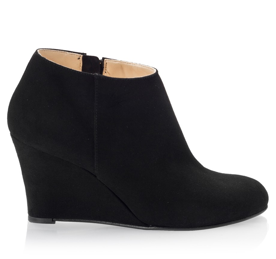 Black Ankle Boots With Wedge Heel he3w7PYt