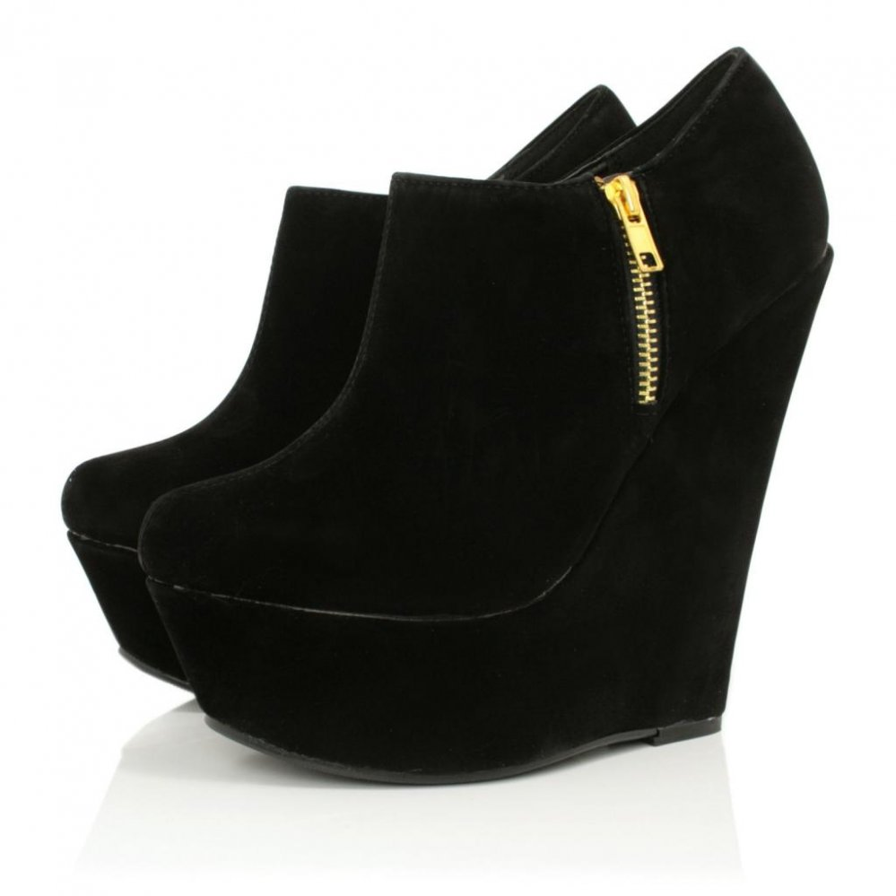 Black Ankle Boots With Wedge Heel rLoKjz2K