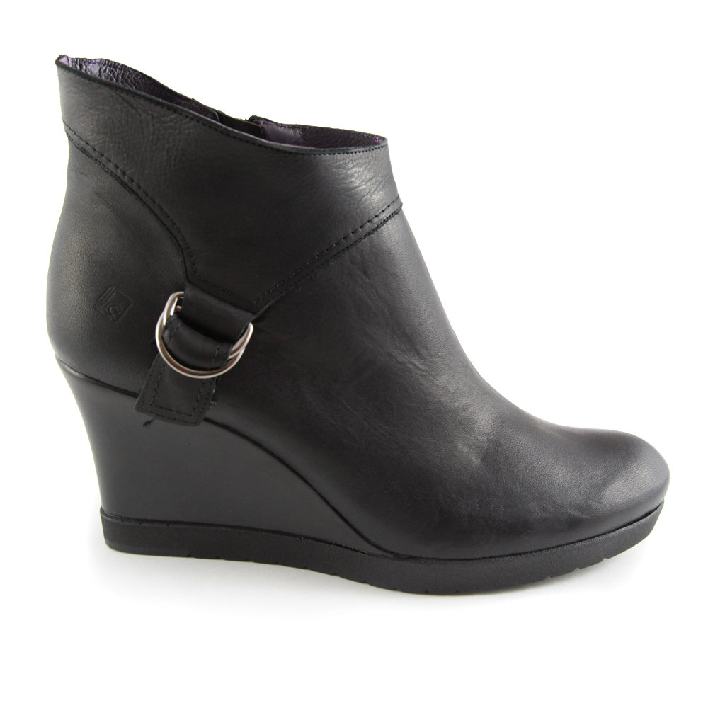 Black Ankle Boots With Wedge Heel krB30gM5
