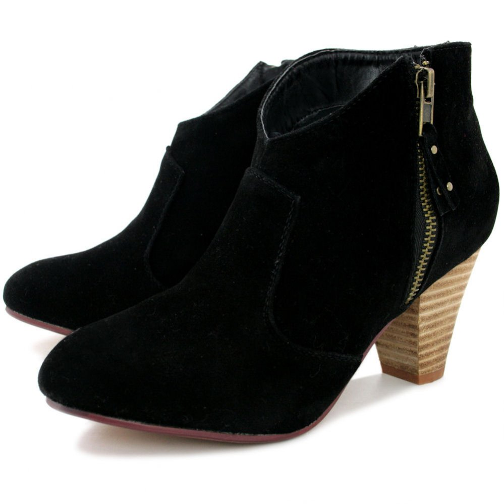 Black Ankle Suede Boots pi70QKxj