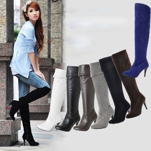 Black Over The Knee High Boots b3APV239