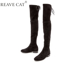 black thigh high boots no heel boot yc