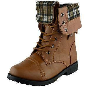 Combat Boots For Girls Brown 5HTdsyQR