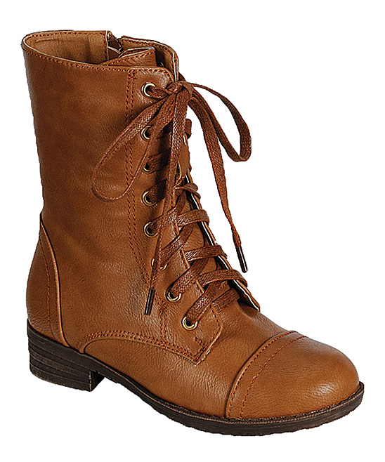 Combat Boots For Girls Brown FiQJoHPS