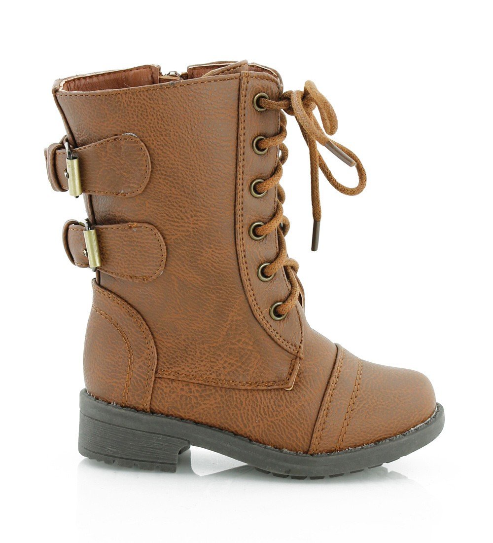 Combat Boots For Girls Brown CYuJw4SK