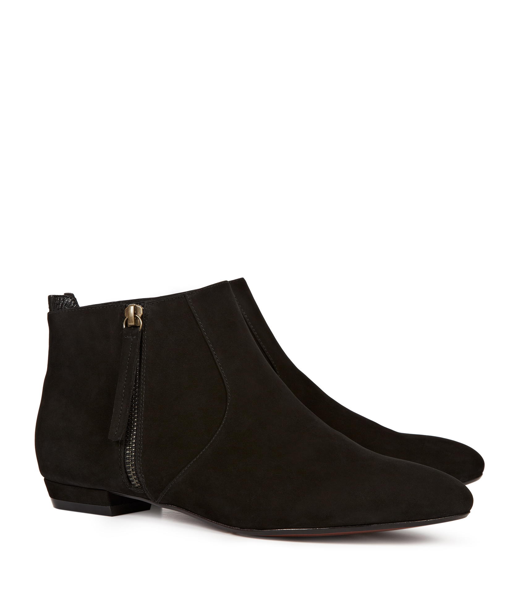 Flat Ankle Boots Suede jJoSokN8