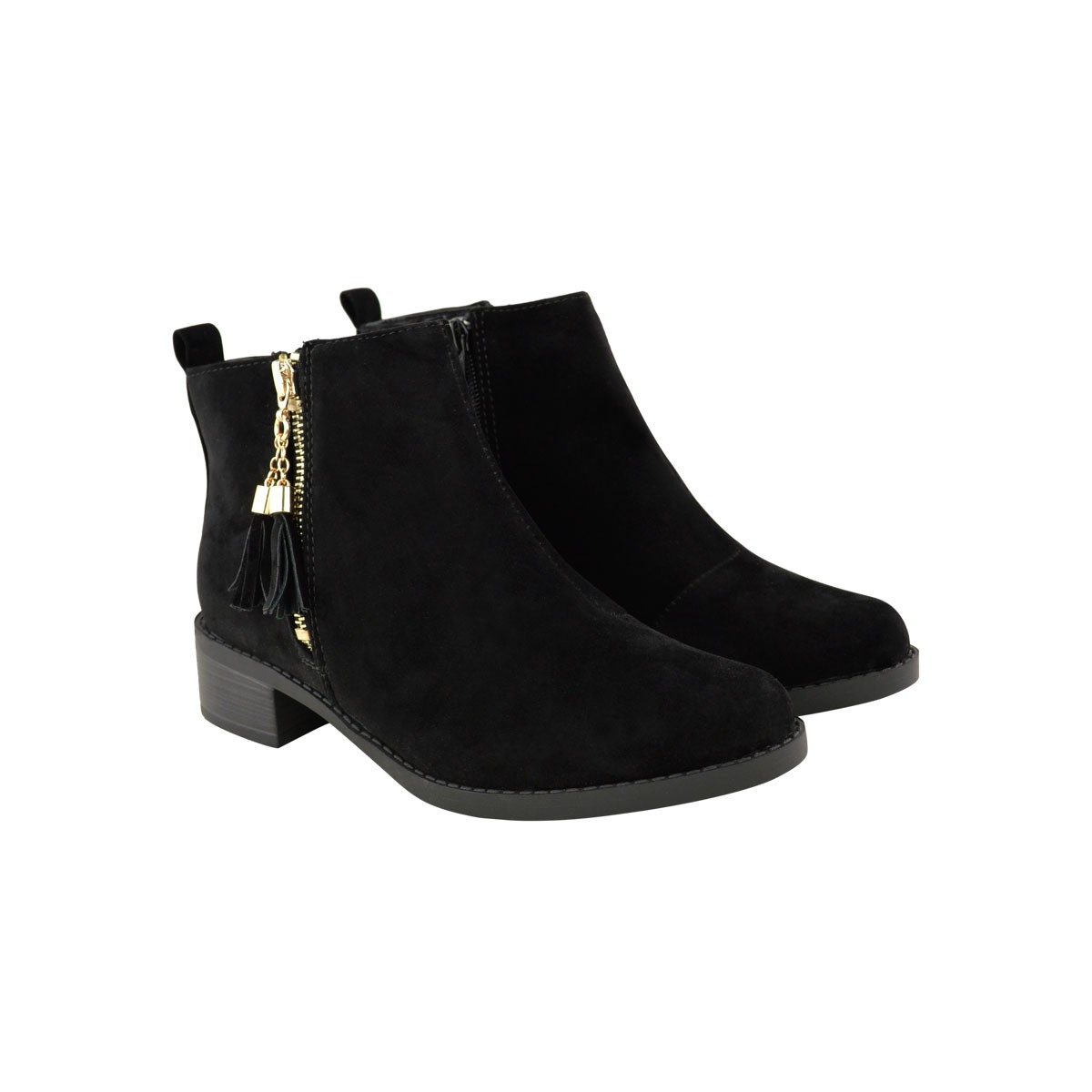 Flat Ankle Boots Suede rRrQSNB5