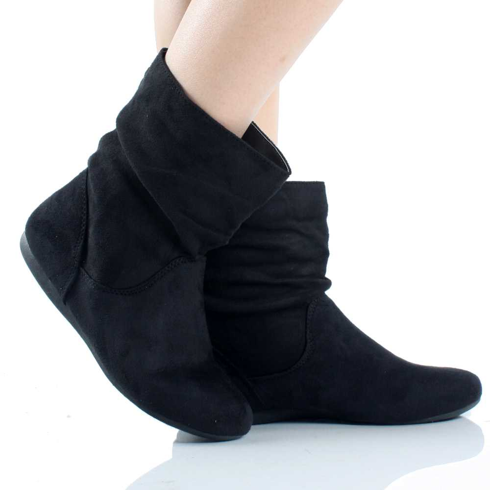 Flat Ankle Boots Suede AKQrFaDp