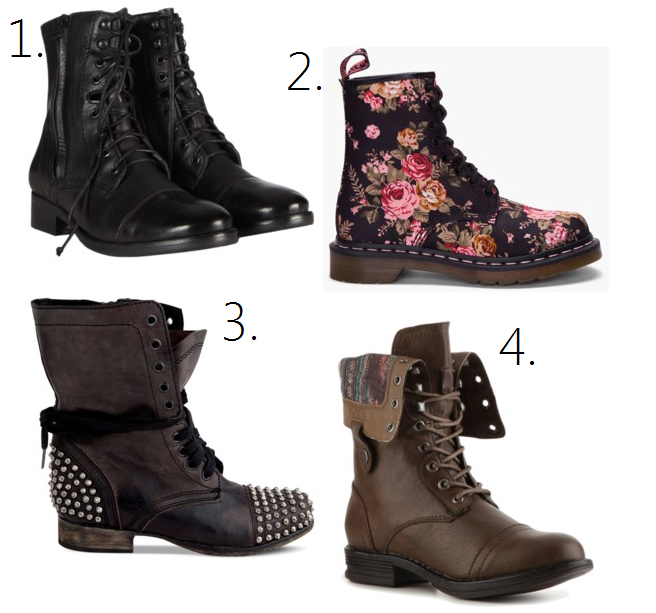 Girls Fashion Combat Boots bHXStvxw