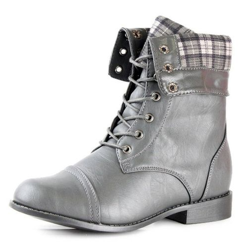 Wonderful Women39s Combat Military Cowboy Mid Calf Lace Up Ankle