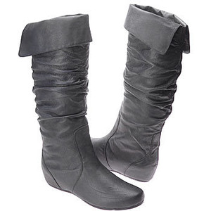 Grey Leather Boots For Women Boot Yc