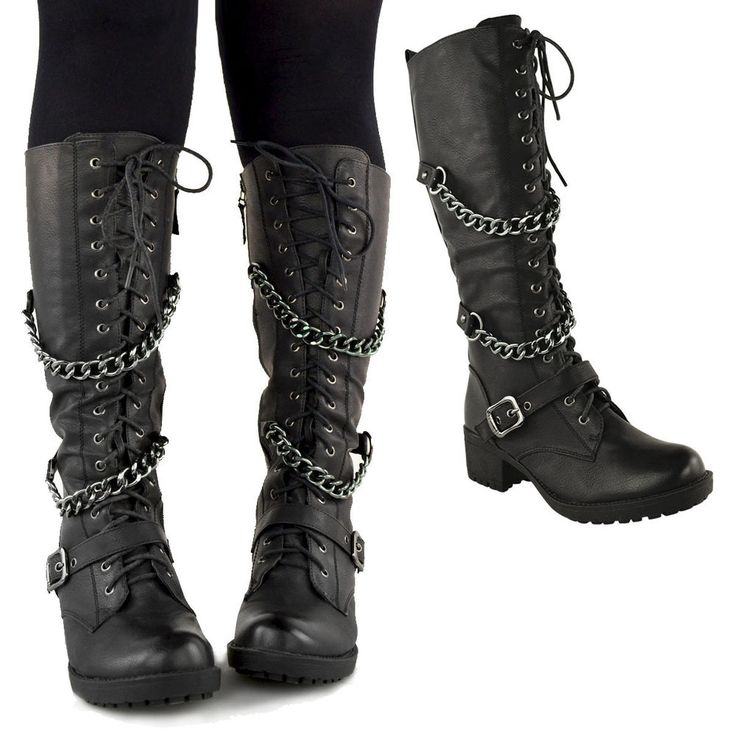 Knee High Combat Boots Women tg7RgIOk
