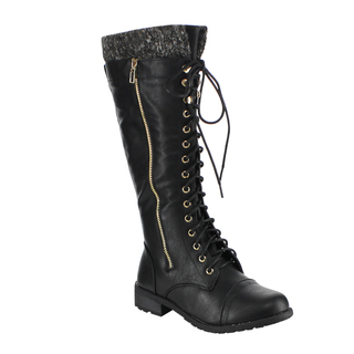 Knee High Combat Boots Women HAZuPi2Q