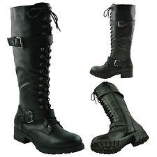 Knee High Combat Boots Women BmwecXrC