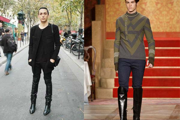 Men Wearing Thigh High Boots Boot Yc