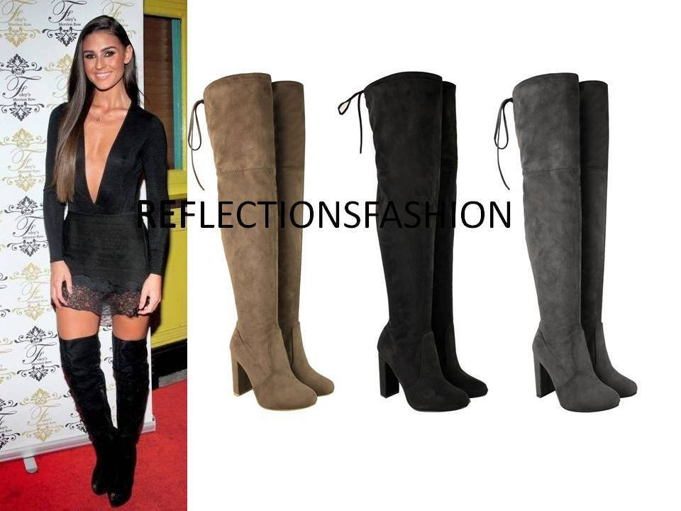Mid Heel Thigh High Boots Boot Yc