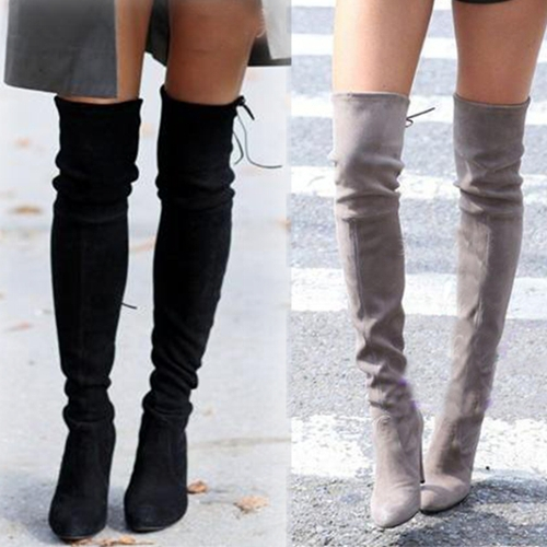 Over The Knee Leather Boots Cheap