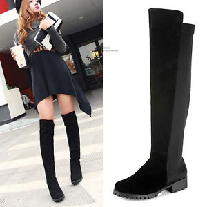 Over The Knee Thigh High Flat Boots fN2evYvR