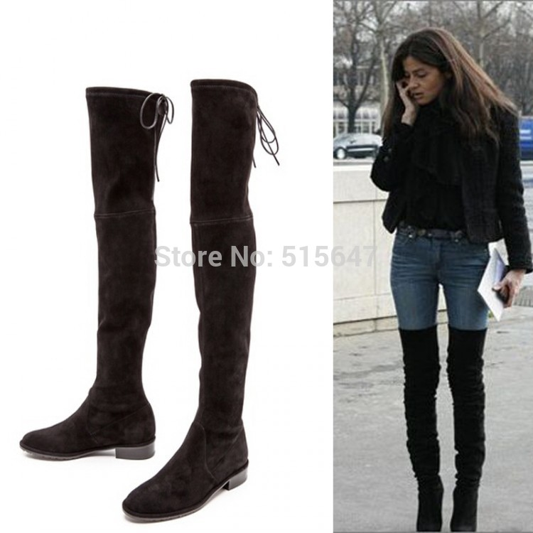 Over The Knee Thigh High Flat Boots hMUtwhto