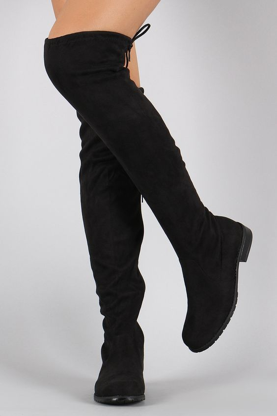 Over The Knee Thigh High Flat Boots MTFibagr