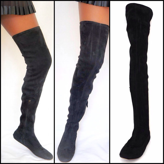 Over The Knee Thigh High Flat Boots NQK4SXhO