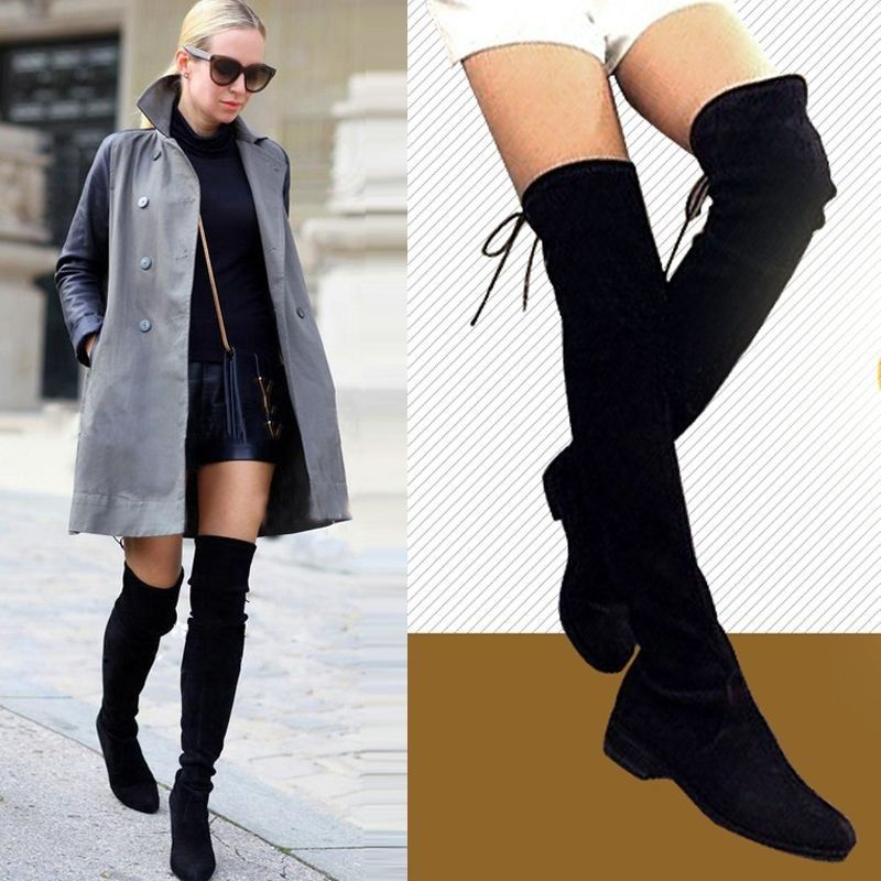 Over The Knee Thigh High Flat Boots msmzviHW