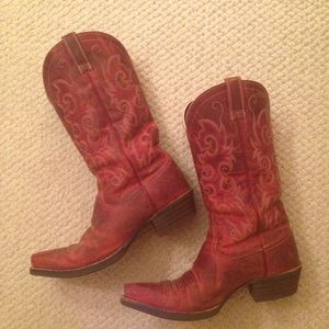 Red Ariat Cowboy Boots 9kc7CEGq