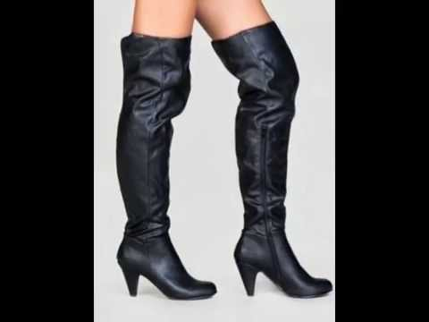 Thigh High Boots With Low Heel - Boot Yc 4910031ac