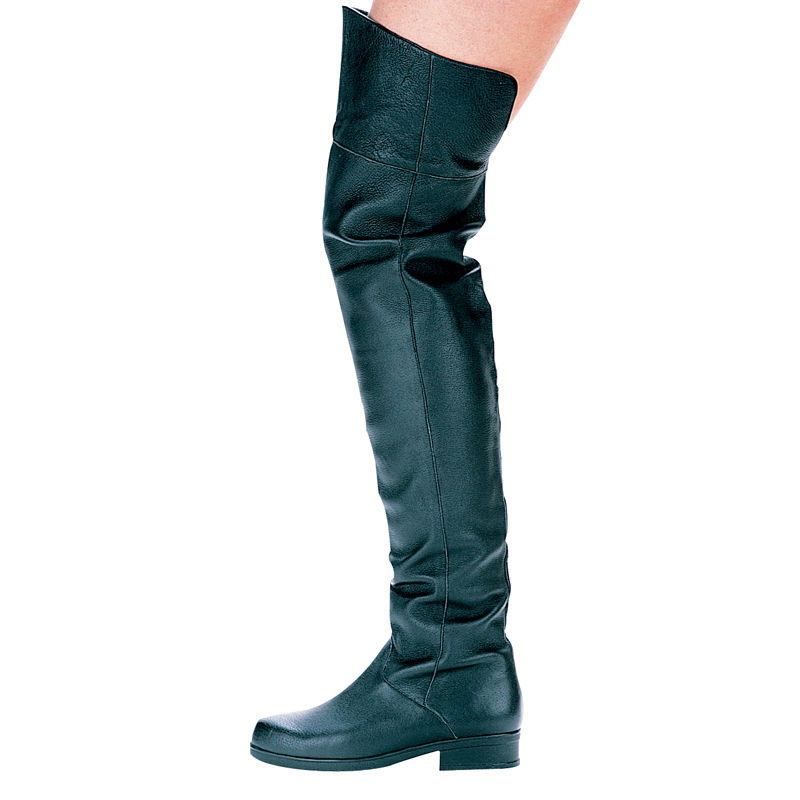 Our Mens Medieval High Boots come up to just below the knee with wraparound fronts that lace on the outer sides of the boot for closure. These boots fit with outfits from many eras, from Viking and Barbarian to Peasant and Medieval.