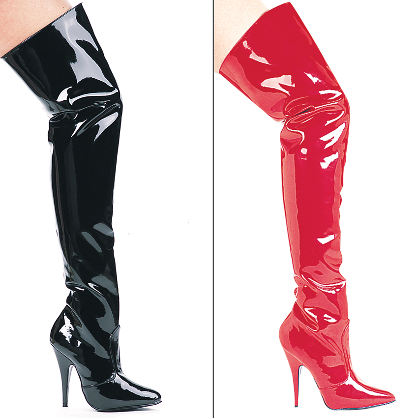 hot products beauty official Thigh High Patent Boots - Boot Yc