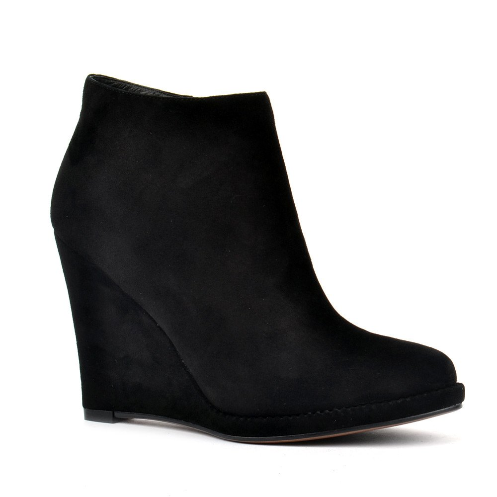 wedge black ankle boots boot yc