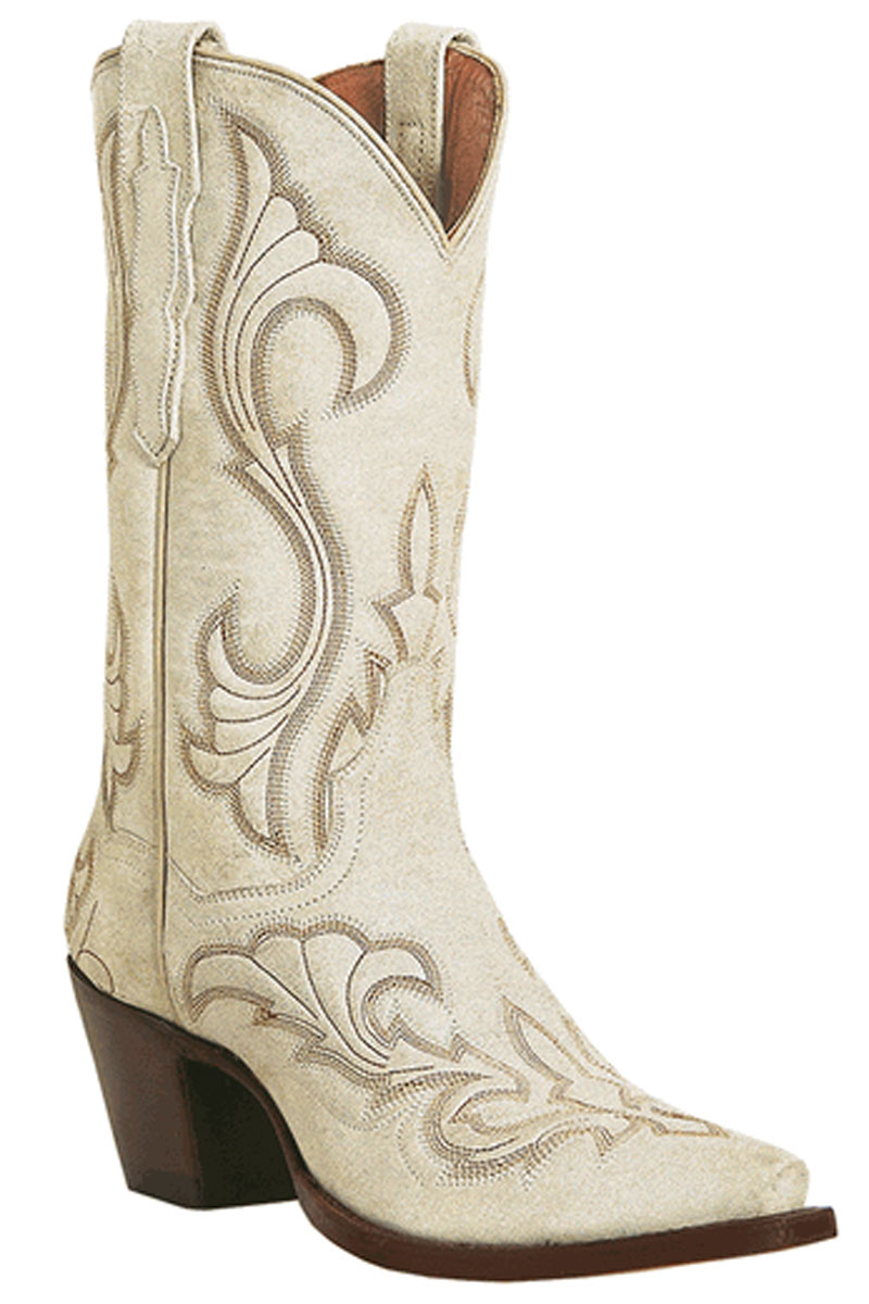 White Leather Cowgirl Boots R4573rDz