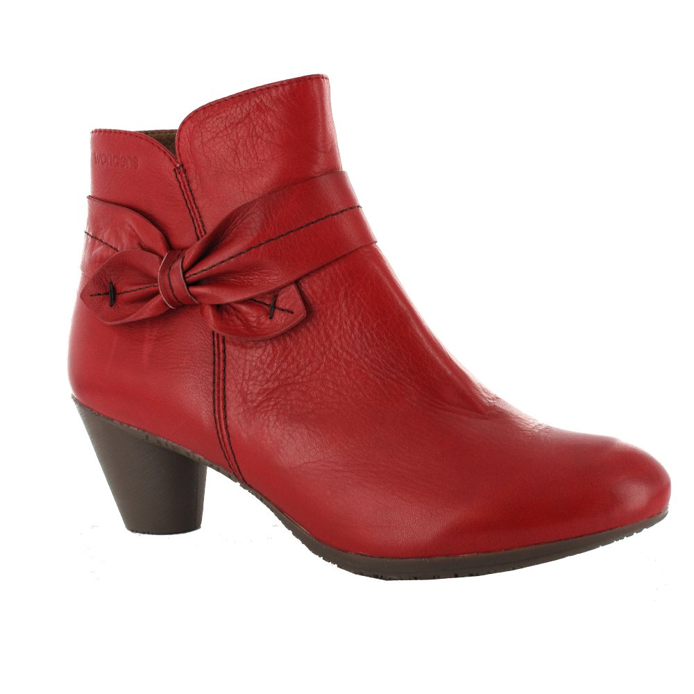 new photos new high new styles Womens Red Leather Ankle Boots - Boot Yc