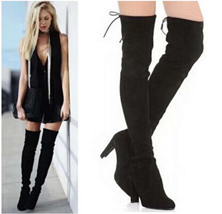 Womens Suede Thigh High Boots Ny1WZX3j