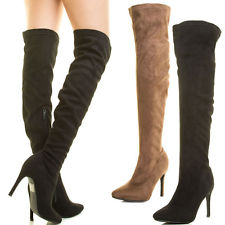 Womens Suede Thigh High Boots KCjx6Dou